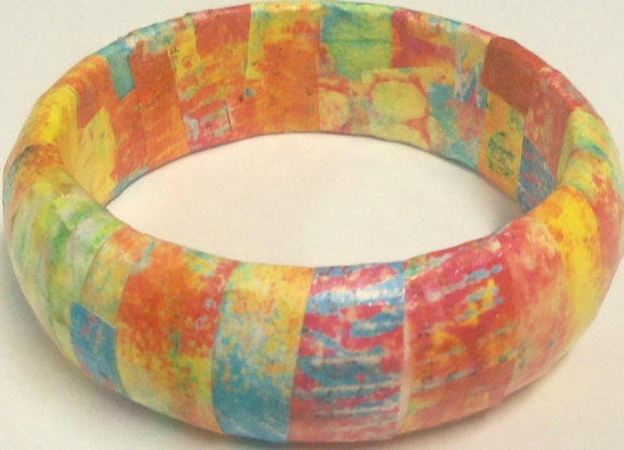 Upcycled bangle bracelet by autumnsensation
