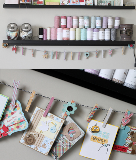 Clothes Pin Display by Scrappin 2LilPrins