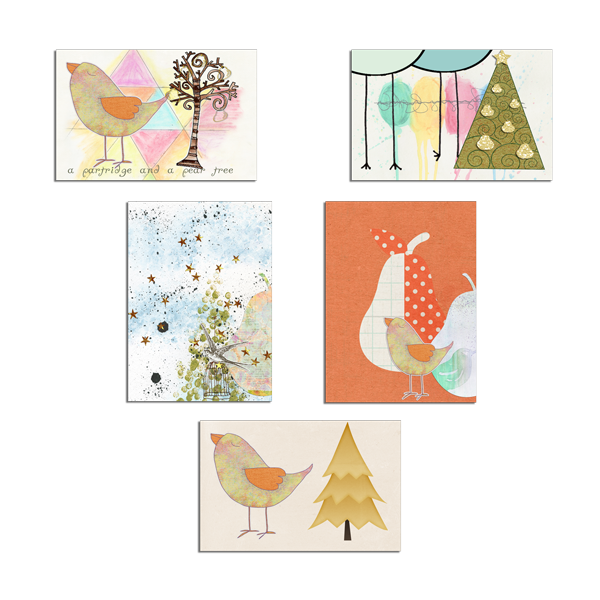 Art journal cards by Lindzee