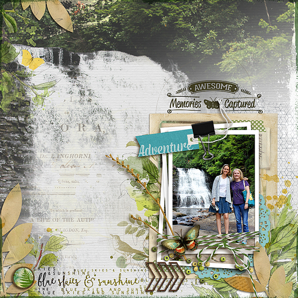 Finger pointing february 20th gallery standouts for Waterfall design in scrapbook
